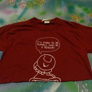 Vtg Ziggy Hard to be humble & be a senior crop T